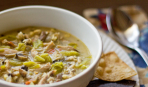 Куриный суп с грибами и китайской капустой