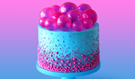 Потрясающее украшение для торта — желатиновые шарики