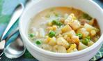 Сырный суп с картофлем
