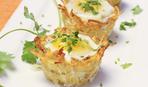 Вкусный завтрак: яйца в картофельных корзинках