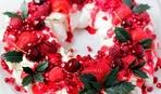 """Современные десерты: низкокалорийный торт """"Новогодний венок"""""""