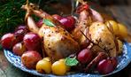 Перепела, фаршированные болгарским перцем и кускусом (фото-рецепт)