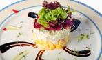 """Новогодний салат с крабовыми палочками и ананасами """"Тропики"""""""