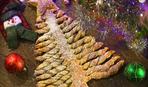 На скорую руку: новогодний закусочный пирог «Елочка»