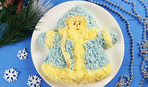 """Новогодний салат """"Снегурочка"""": пошаговый рецепт"""