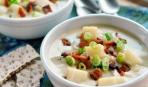 Суп с запеченным картофелем и беконом