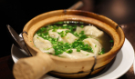 Суп с клецками и зеленью