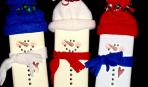 Шоколадки-снеговички к Новому году