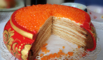 Блинно-икорный торт «Север»