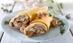 Итальянские блины с грибами и сыром