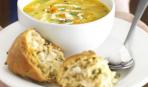 Суп-пюре с запеченной курицей