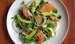 Постный салат с авокадо и грейпфрутом (за 10 минут)