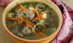 Мастава - рисовый суп с фрикадельками