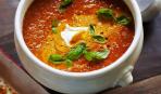 Томатный суп с крутонами