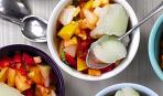 Щербет с фруктами и лимончелло