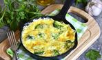 Фриттата с брокколи и сыром