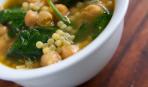 Суп из нута и шпината