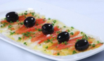 Эскашада из трески с оливковым маслом и маслинами
