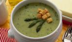 Суп из спаржи с ванильным маслом