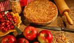 Насыпной яблочный пирог на скорую руку