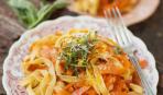 Феттучини с морковью