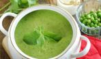 Крем-суп с мятой и горохом