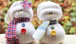 Снеговик из носка. Пошаговый мастер-класс