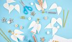 Несложный способ, как сделать рождественского ангела из бумаги