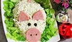 Новогодние рецепты: сытный салат «Свинка»