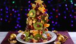 Новогоднее меню: фруктовый салат в виде елки
