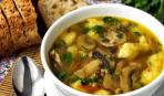 Суп грибной с кореньями