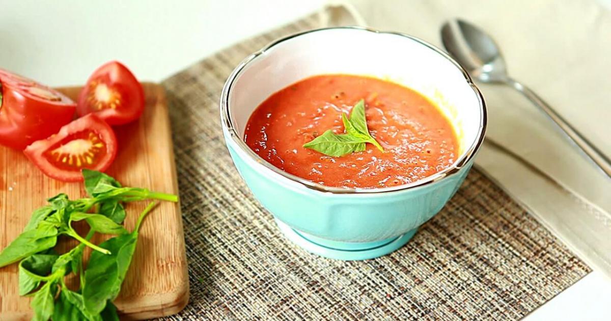Суп пюре из помидор для похудения