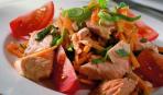 Норвежская семга с морковным салатом