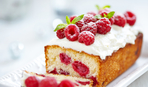"""Десерт дня: песочный кекс с малиной """"Сладкоежка"""""""