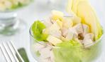 Куриный салат с яблоком. Рецепт на ленивую хозяйку.