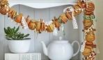 Новогодние гирлянды и украшения из цитрусовых