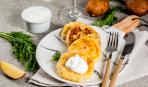 Творожные лепешки с сырной начинкой: пошаговый рецепт