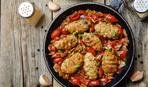 Ромштекс с сыром и помидорами быстрого приготовления