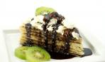 Блинный торт с бананами и киви