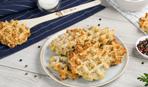 Овсяные вафли с сыром и зеленью