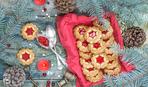 Песочное печенье с двумя начинками