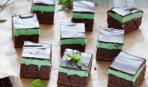 Брауни с шоколадно-мятной начинкой