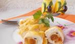 Щедрый Стол: готовим куриное филе фаршированное мягким сыром и курагой