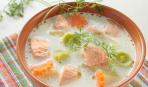 Норвежский сливочный суп с семгой