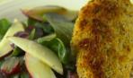 Запеченные куриные грудки с салатом из шпината