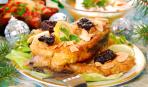 Восхитительный обед: жареный карп с картофелем и оливками
