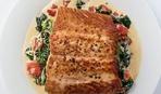Белая рыба в гранатовом соусе