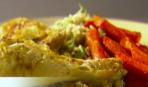 Куриные окорочка с морковью и рисом