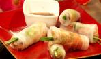 Роллы из баранины в рисовой бумаге