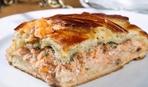 Рыбный пирог на кефире - простой рецепт
